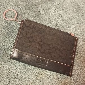 Small Coach keychain wallet